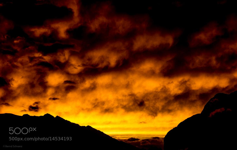 Photograph Sunset above Innsbruck by Bernd Schranz on 500px