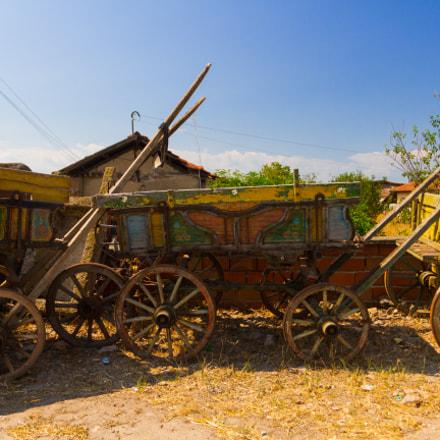 Three vintage carts
