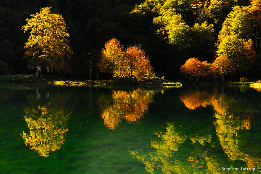 Photograph autumnal reflection by stephane larroque on 500px