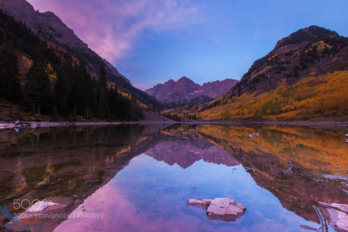 Photograph Sunrise at Maroon Lake by Pete Miller on 500px