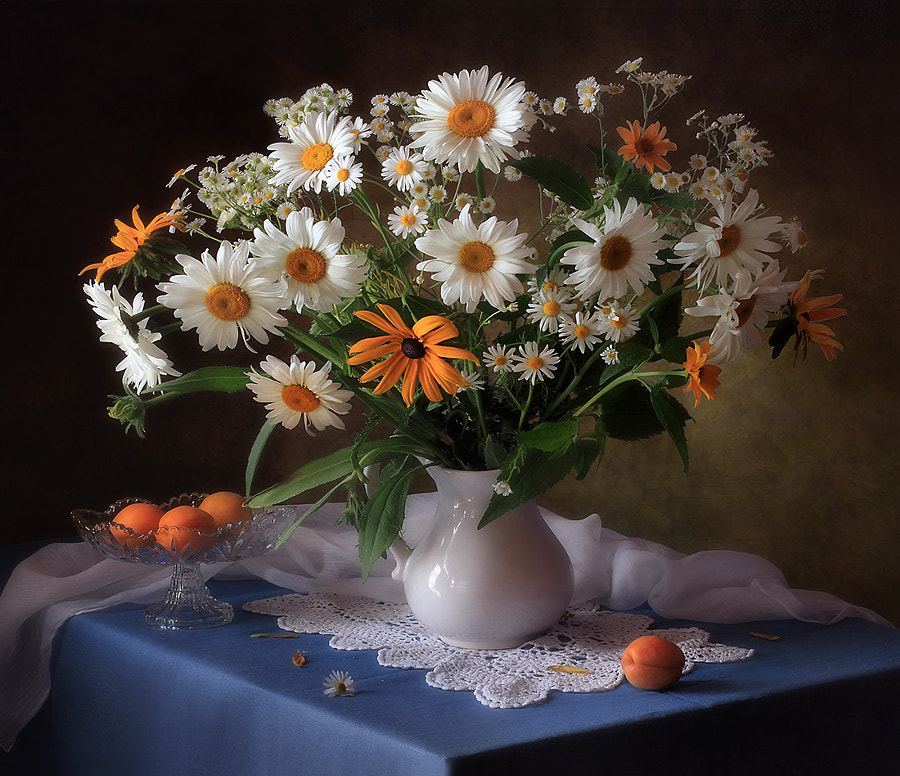 Still life with bouquet of daisies, автор — Tatiana Skorokhod на 500px.com