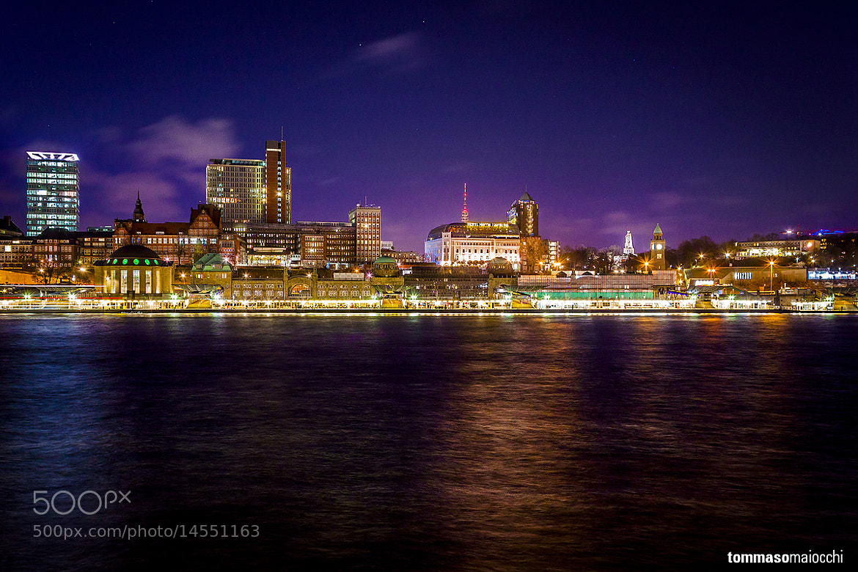 Photograph Landungsbrücken by night by Tommaso Maiocchi on 500px