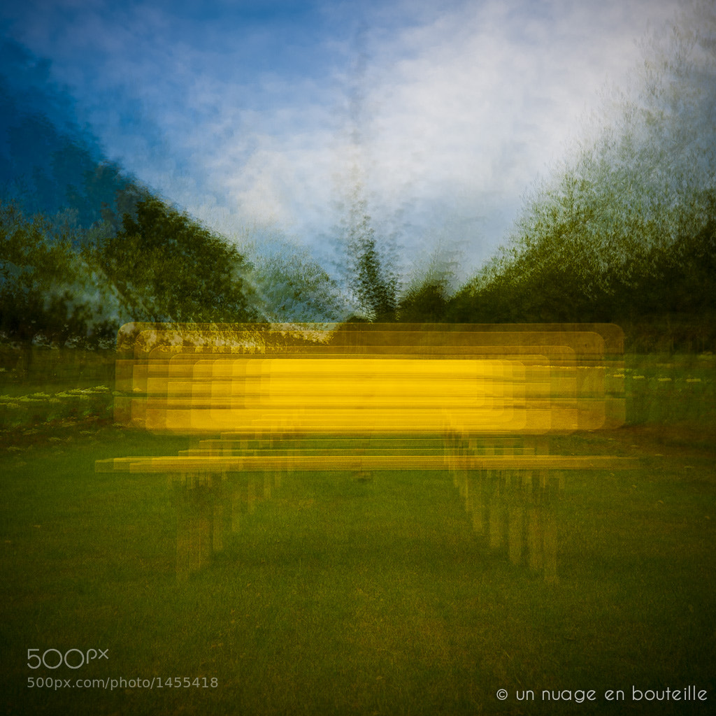 Photograph Cone Explosion : Yellow Bench by Vincent Montibus on 500px