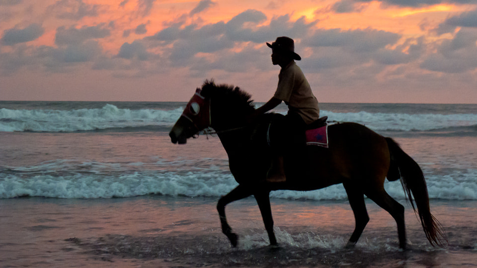 Photograph Riding into the Sunset, Pantai Depok by Fang Keong Lim on 500px