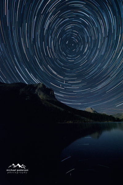 Photograph Star Trails over Elbow Lake by mike pedersen on 500px