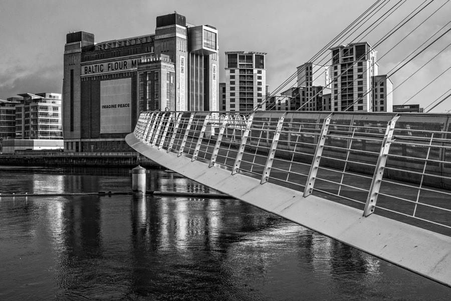 Baltic Centre and Millennium Bridge