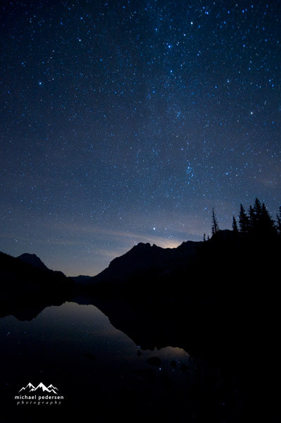 Photograph Night Sky, Elbow Lake by mike pedersen on 500px