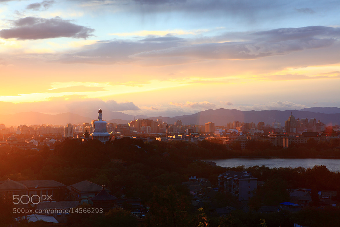 Photograph Sunset on Jingshan Hill by Fan Yang on 500px