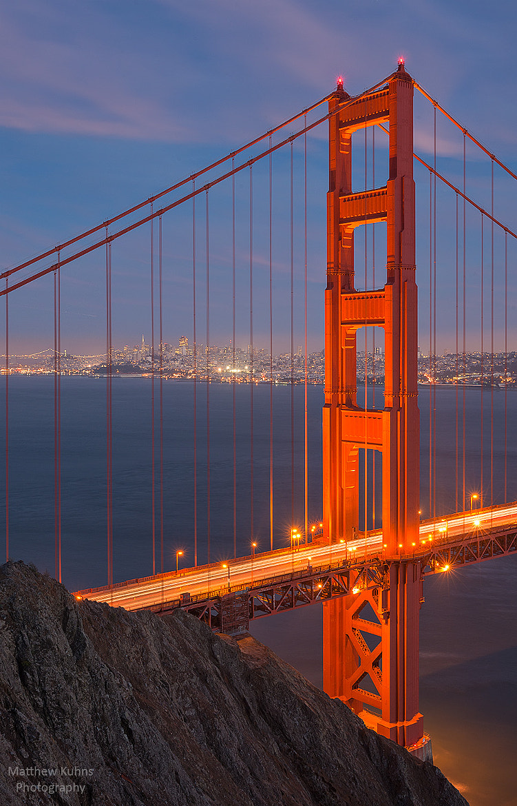 Photograph Golden Gate Twilight by Matthew Kuhns on 500px