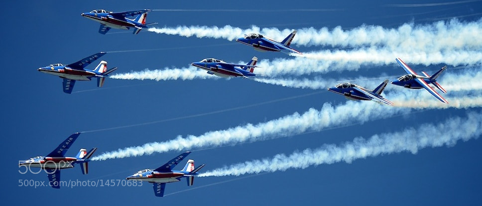 Photograph Patrouille de France by Matthew Hotton on 500px
