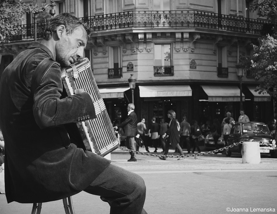Photograph The Accordionist by Joanna Lemanska on 500px