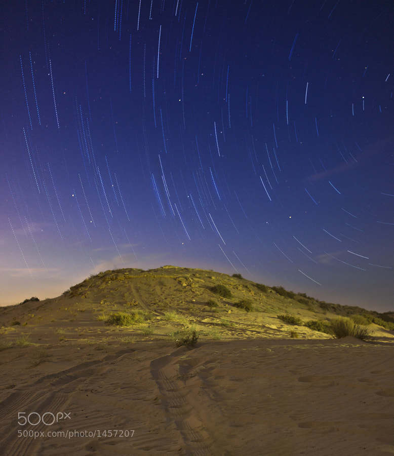 Star-trails in Kuwait's desert