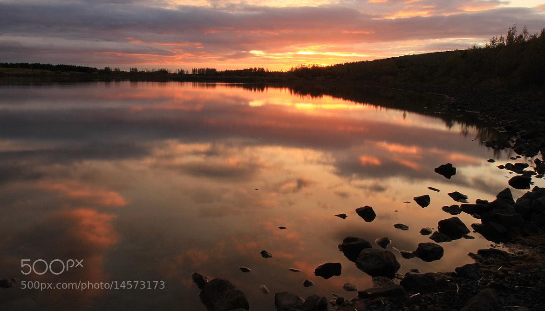 Photograph Sunset at Hvaleyrarvatn last evening by Anna Guðmundsdóttir on 500px
