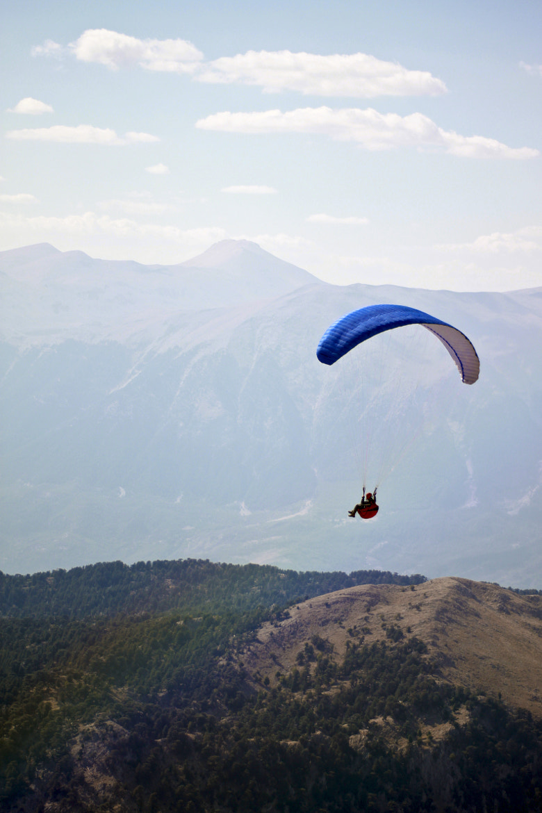 Photograph paraplane over Mount Tahtali by Olga H on 500px