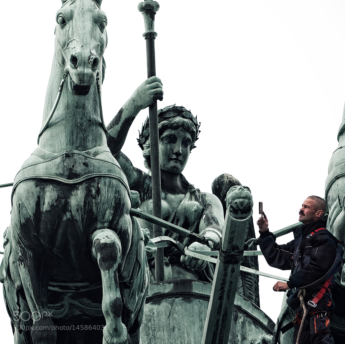 Photograph Cleaning the Quadriga by Crazy Ivory on 500px