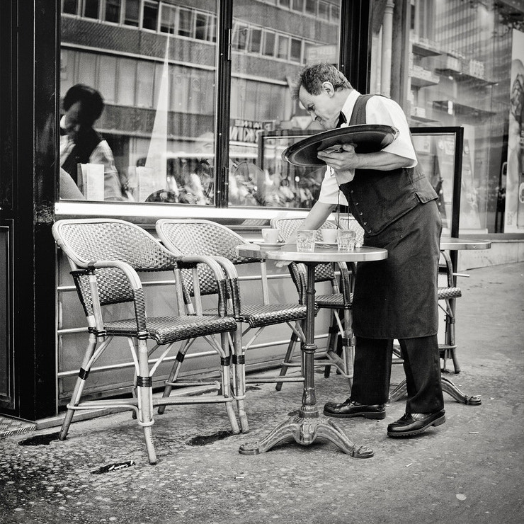 Photograph Parisian Waiter at work by Laurent DUFOUR on 500px