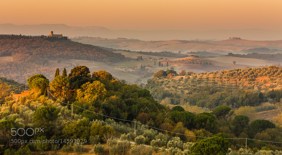 Photograph Tuscan Morning Colors and Light by Hans Kruse on 500px