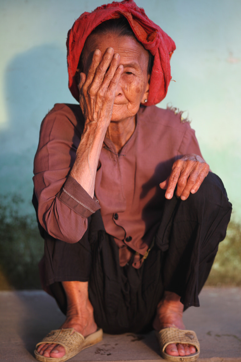 Photograph Old lady hiding her face  by Isa Boe on 500px