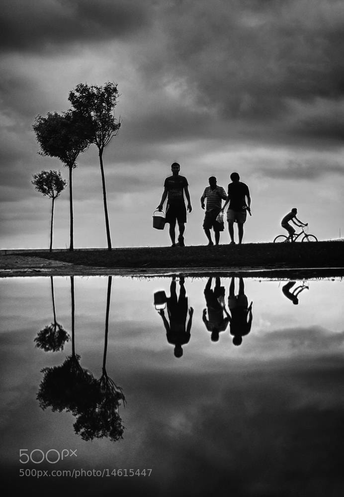 Photograph Fisher reflection on b&w by Onur Gokkus on 500px