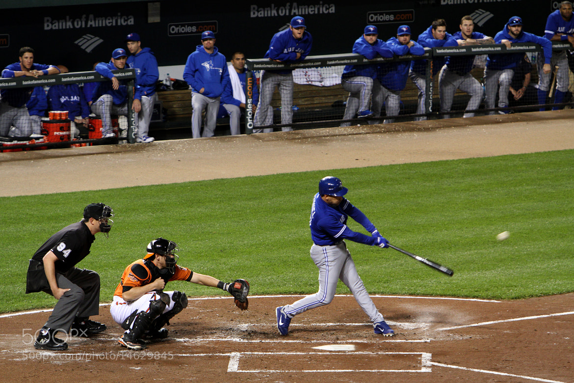 Photograph Omar Vizquel Doubles at Camden Yards by L.E. Miller on 500px