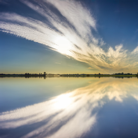 Panorama over the lake., Canon EOS 550D, Canon EF-S 18-55mm f/3.5-5.6 USM