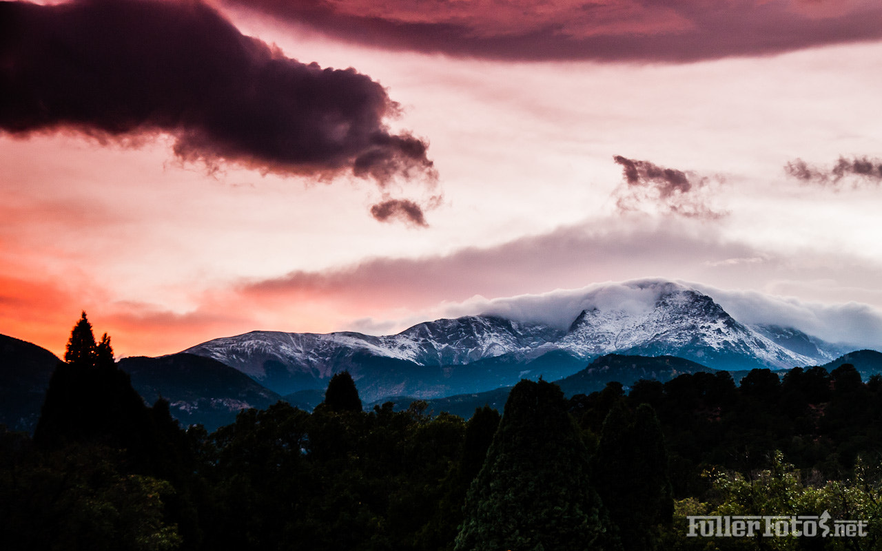 Photograph Sunset storm at Pikes Peak by Tom Fuller on 500px