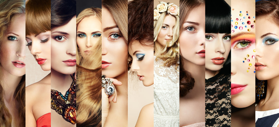 Beauty collage. Faces of women by Oleg Gekman on 500px.com