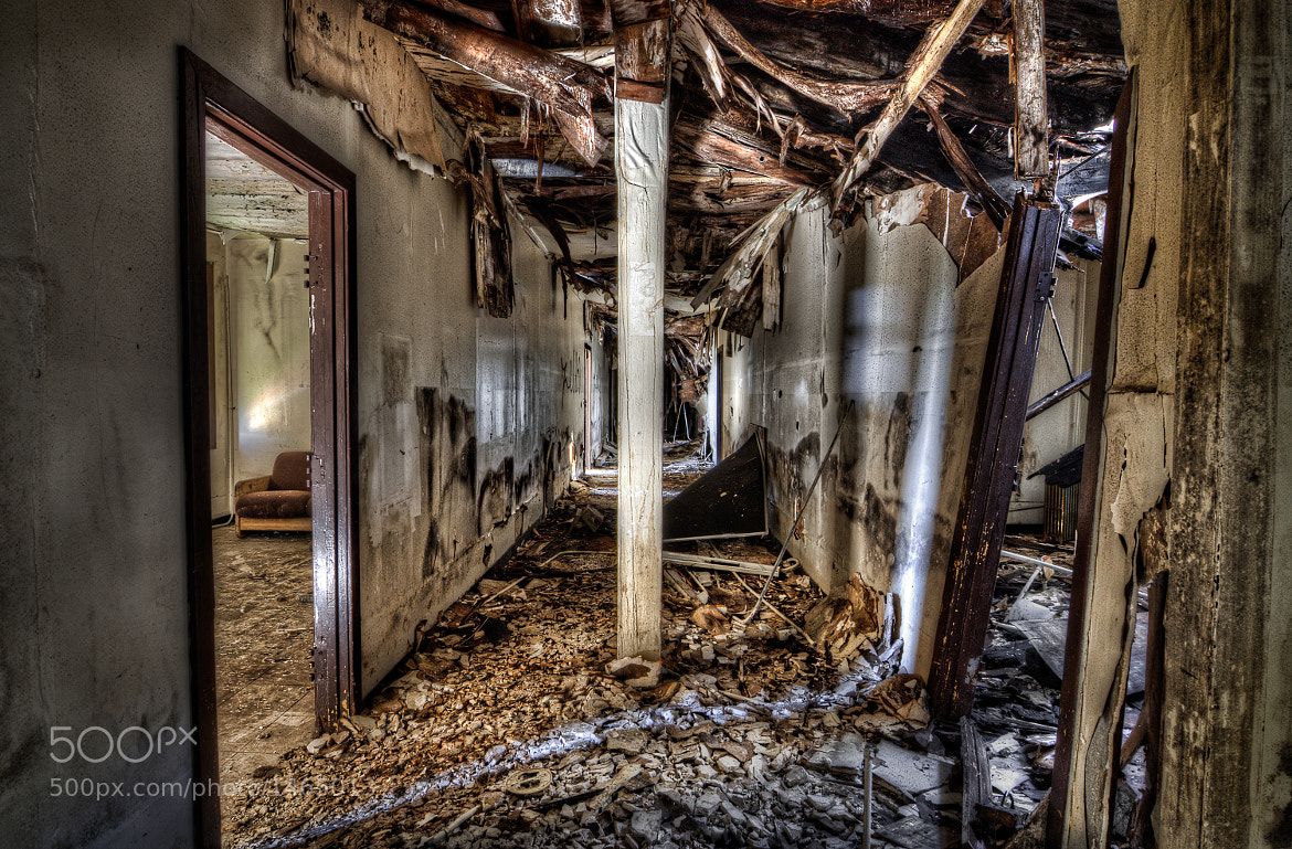 Photograph Decaying Hallway, Mare Island by Tim Fleming on 500px
