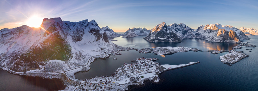 Aerial view of Reine by Adrian Squirrell on 500px.com