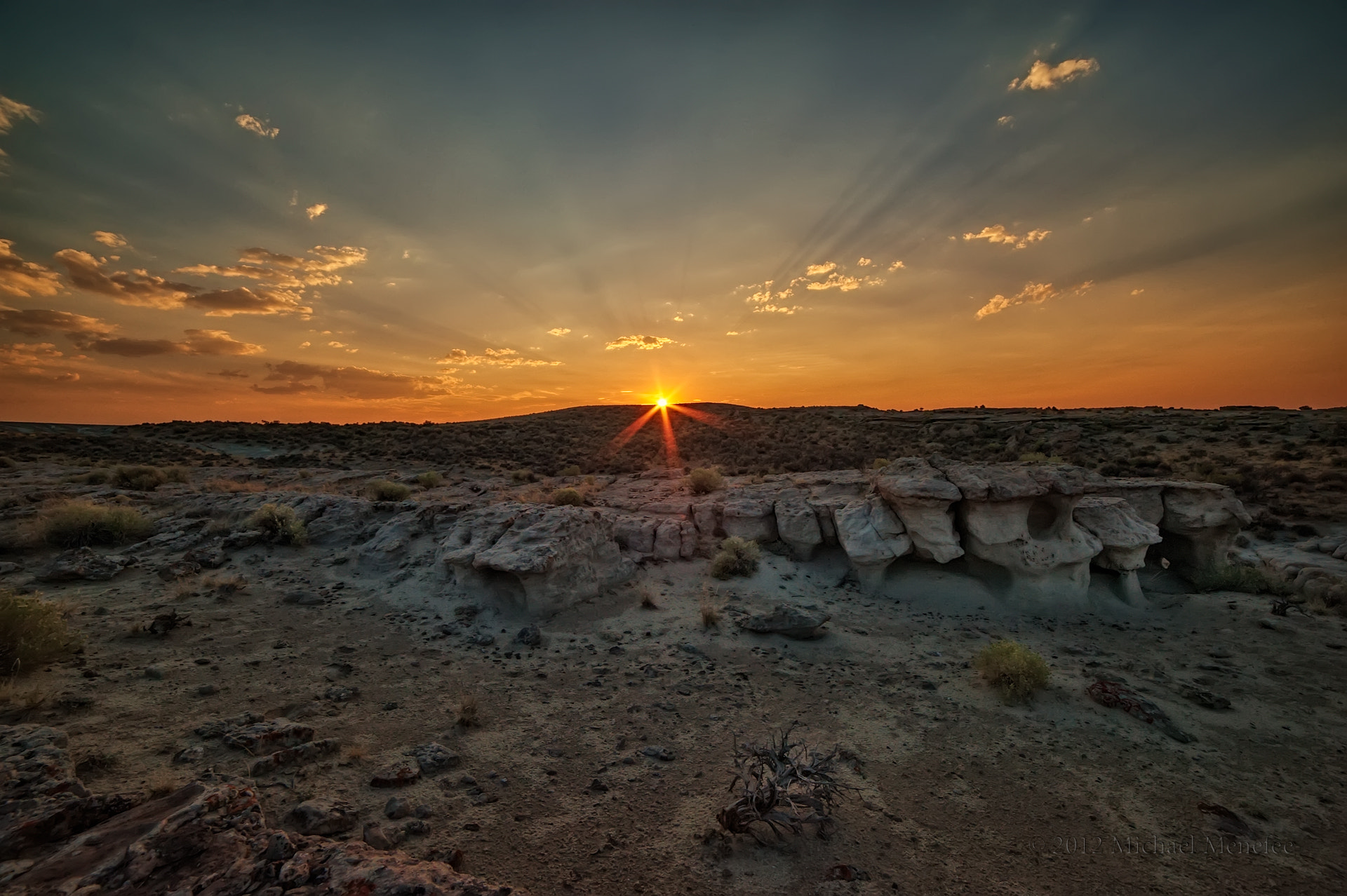 Photograph Dusk Falls on Wyoming's Red Desert by Michael Menefee on 500px