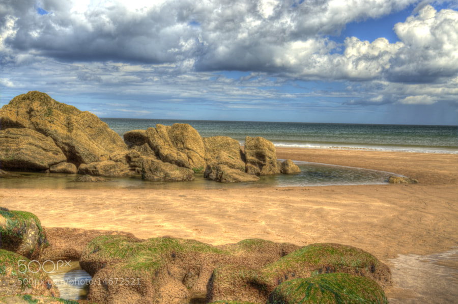 Spitall Beach in Berwick upon Tweed. Tonemapped (not HDR)