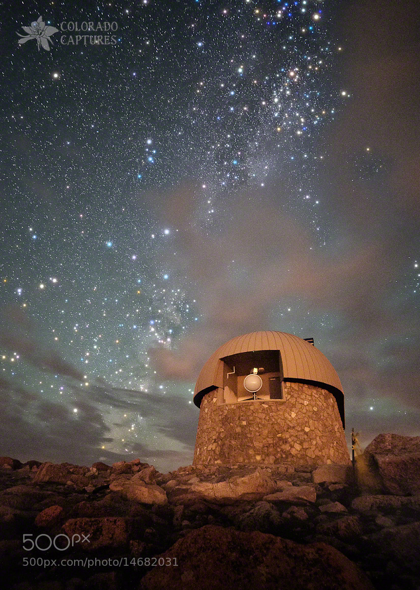 Photograph Milky Way Clouds Over The Mount Evans Observatory by Mike Berenson - Colorado Captures on 500px
