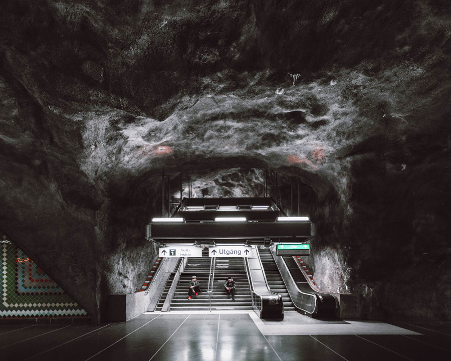 Vastra Skogen Metro Station by Rob Sese on 500px.com