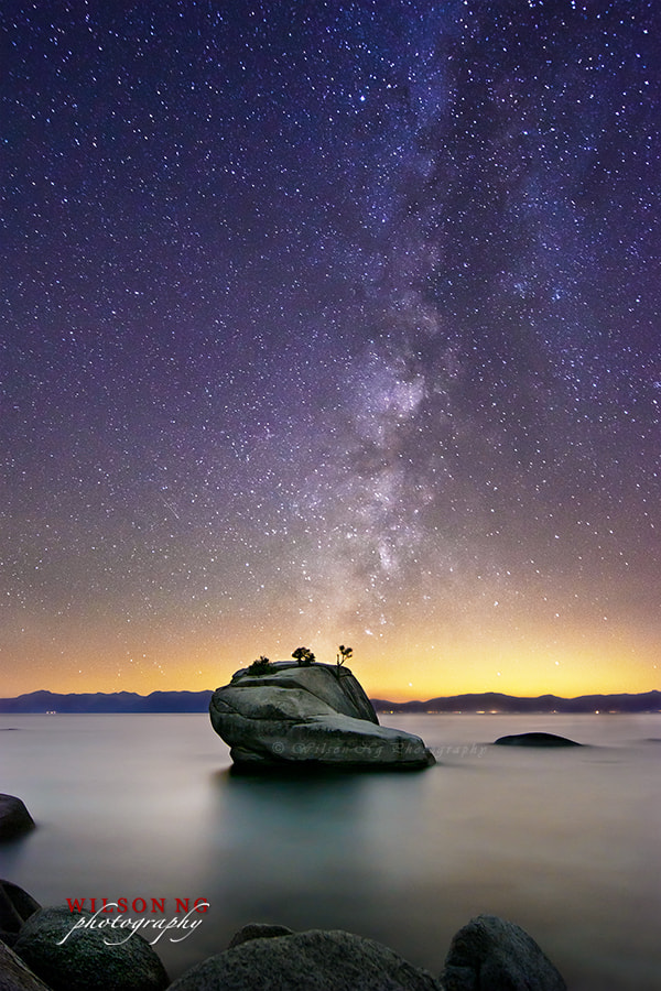 Photograph Milky Way over Bonsai Rock by Wilson Ng on 500px