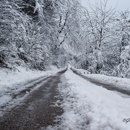 Road in winter time