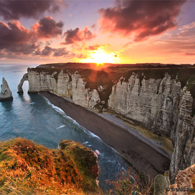 Sunrise at Etretat