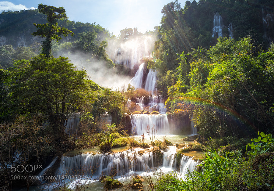 """Tee lor su"" the great waterfall of thailand by AttapornChuichai"