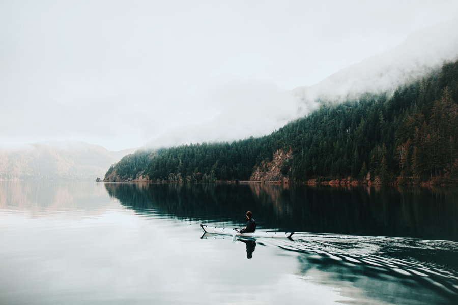 Still Morning at Lake Crescent. by Berty Mandagie on 500px.com