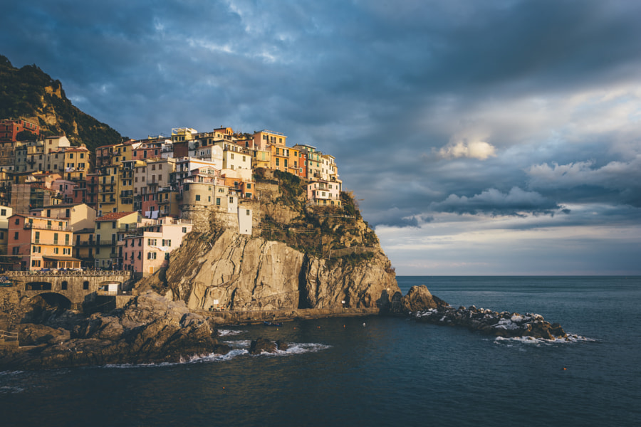 Golden light on Manarola by Federico Ravassard on 500px.com