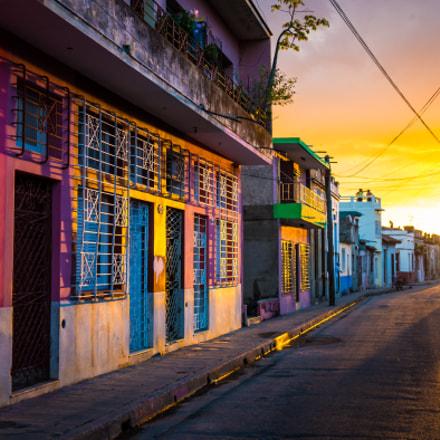 CAMAGUEY, CUBA - Street view of UNESCO heritage city centre