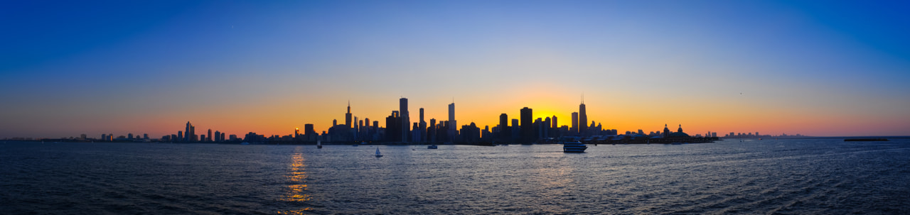 Photograph Sunset Skyline Pano by Chris Allen on 500px