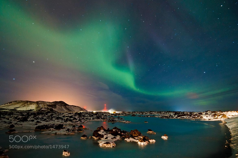 Photograph Aurora Borealis - Blue Lagoon by Arnold van Wijk on 500px