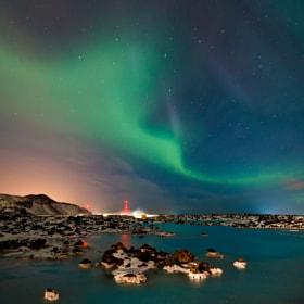 Aurora Borealis - Blue Lagoon by Arnold van Wijk (arnold_w)) on 500px.com