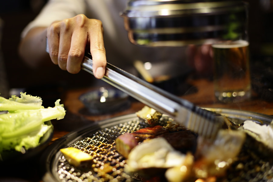 Raw beef slice for barbecue or Japanese style yakiniku by Quang Mau Thanh on 500px.com