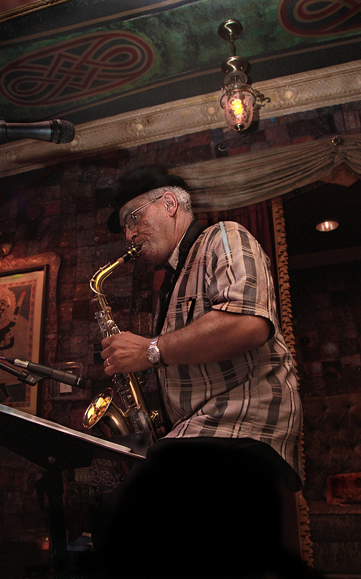 Photograph Sax Player at the House of Blues by Dave Gillenwater on 500px