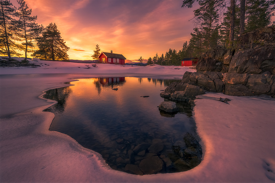 Landscape Fine Art Photography, The Opening II by nature and landscape photographer Ole Henrik Skjelstad