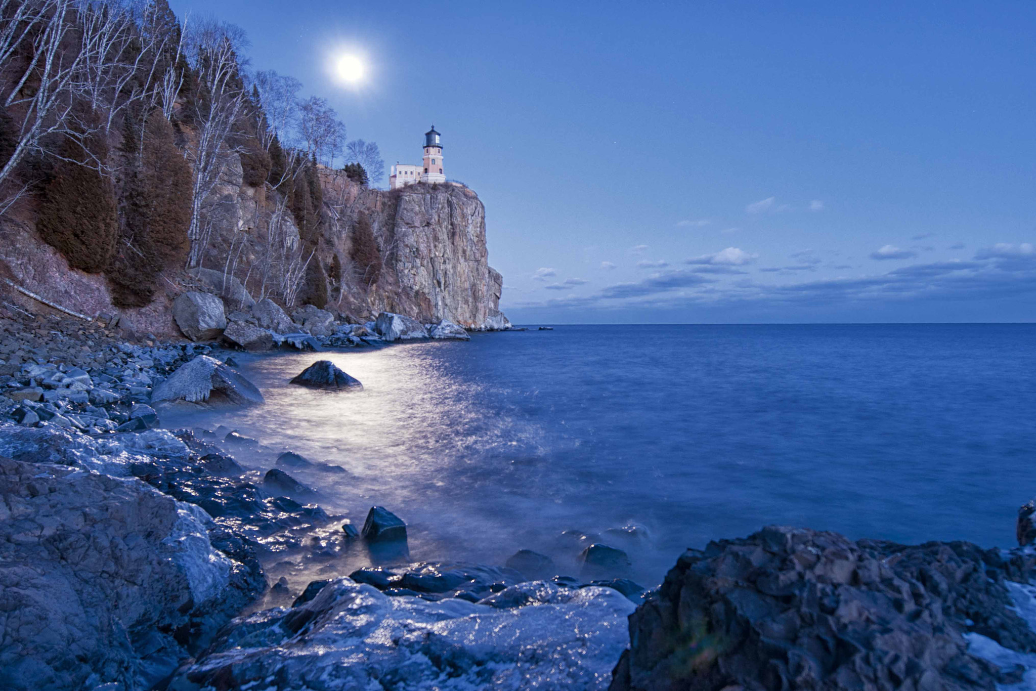 Photograph Moon Rise Over Split Rock Lighthouse by Ron Guernsey on 500px