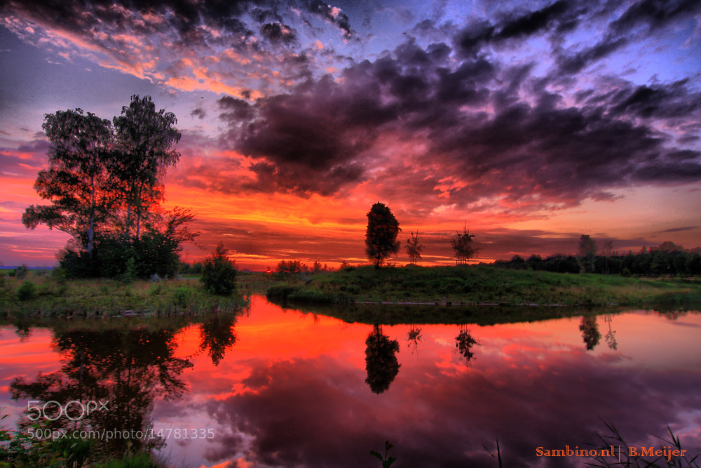 Photograph Sunset in the Netherlands  by Bert Meijer on 500px