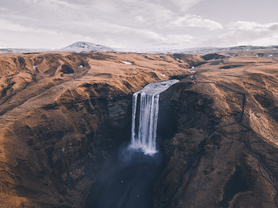 Skógafoss from above by Merlin Kafka on 500px.com