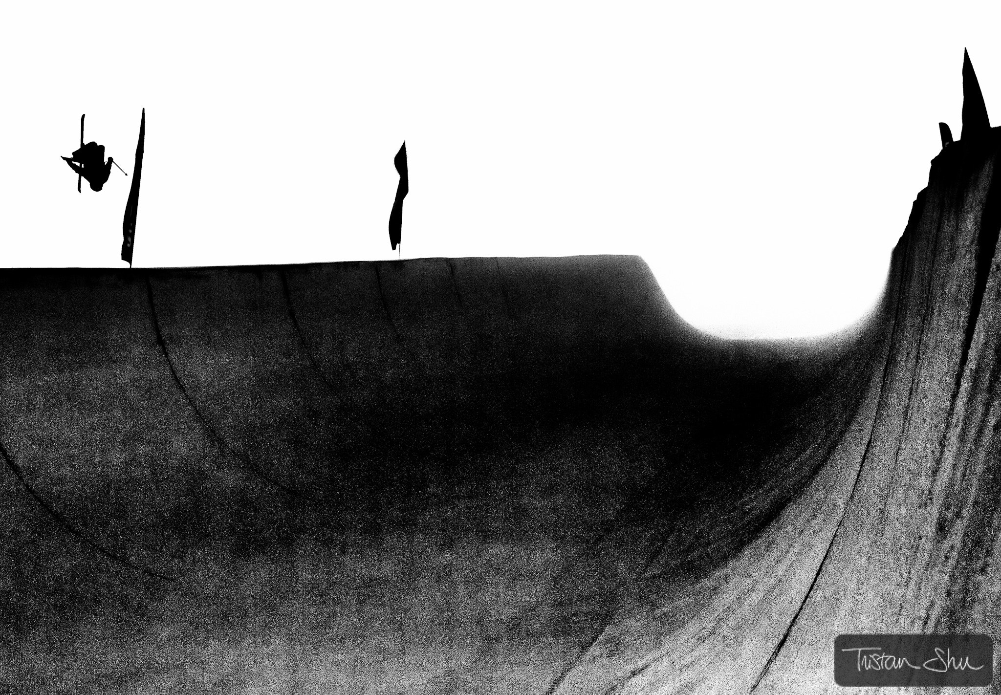 Photograph Superpipe training with Xavier Bertoni by Tristan Shu on 500px